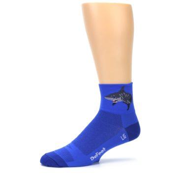 Image of Blue Shark Men's Quarter Crew Athletic Socks (side-2-10)