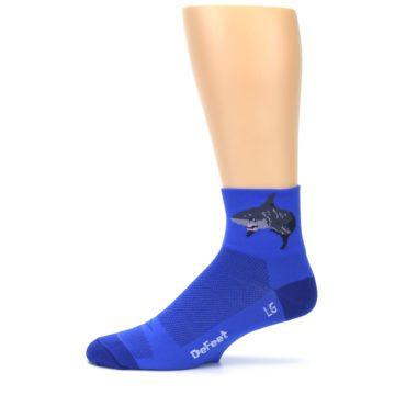 Image of Blue Shark Men's Quarter Crew Athletic Socks (side-2-11)