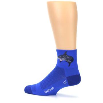 Image of Blue Shark Men's Quarter Crew Athletic Socks (side-2-13)