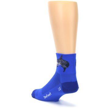 Image of Blue Shark Men's Quarter Crew Athletic Socks (side-2-back-15)