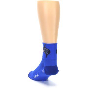Image of Blue Shark Men's Quarter Crew Athletic Socks (side-2-back-16)