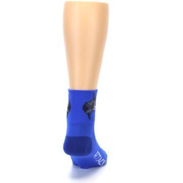 Image of Blue Shark Men's Quarter Crew Athletic Socks (back-19)