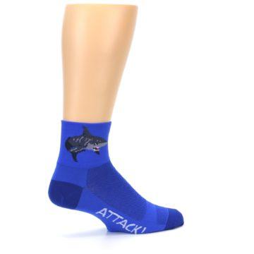 Image of Blue Shark Men's Quarter Crew Athletic Socks (side-1-23)