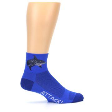 Image of Blue Shark Men's Quarter Crew Athletic Socks (side-1-24)