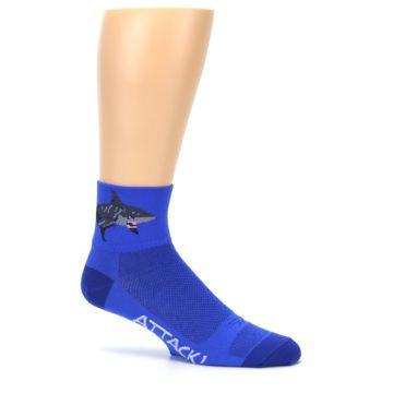 Image of Blue Shark Men's Quarter Crew Athletic Socks (side-1-25)