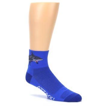 Image of Blue Shark Men's Quarter Crew Athletic Socks (side-1-26)
