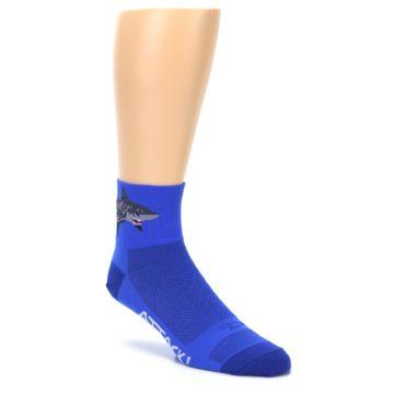 Image of Blue Shark Men's Quarter Crew Athletic Socks (side-1-27)
