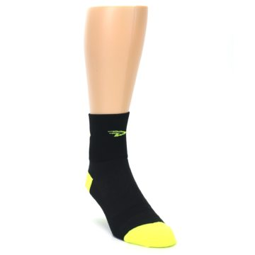 Image of Black Neon Share the Road Men's Quarter Crew Athletic Socks (side-1-front-02)