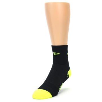 Image of Black Neon Share the Road Men's Quarter Crew Athletic Socks (side-2-front-07)