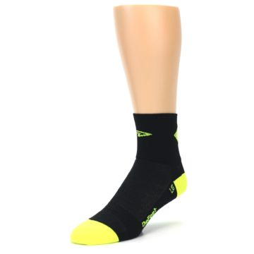 Image of Black Neon Share the Road Men's Quarter Crew Athletic Socks (side-2-front-08)
