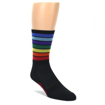 Rainbow Stripe Men's Athletic Socks