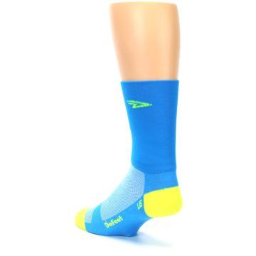 Image of Blue Solid Men's Crew Athletic Socks (side-2-back-15)