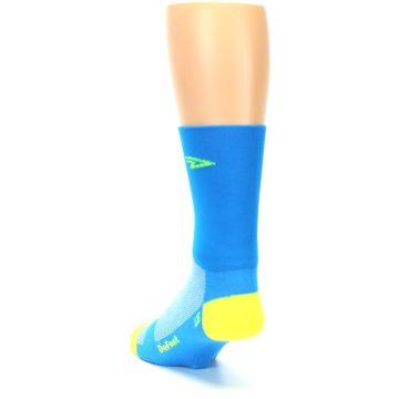 Image of Blue Solid Men's Crew Athletic Socks (side-2-back-16)