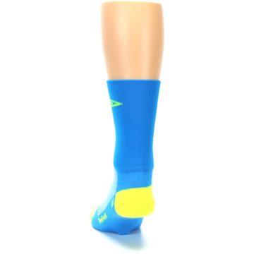 Image of Blue Solid Men's Crew Athletic Socks (back-17)