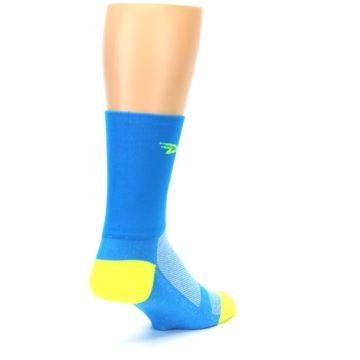 Image of Blue Solid Men's Crew Athletic Socks (side-1-back-21)