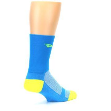 Image of Blue Solid Men's Crew Athletic Socks (side-1-back-22)