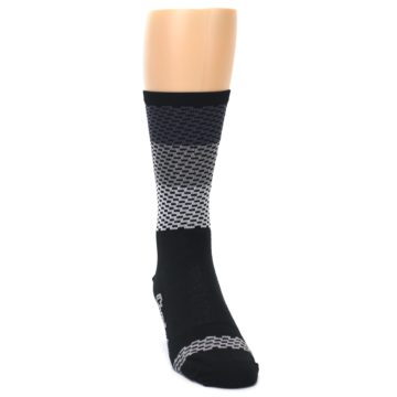 Image of Black Gray Dashes Men's Crew Athletic Socks (side-1-front-03)