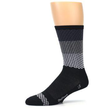 Image of Black Gray Dashes Men's Crew Athletic Socks (side-2-10)