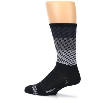 Image of Black Gray Dashes Men's Crew Athletic Socks (side-2-13)