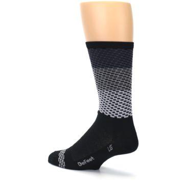 Image of Black Gray Dashes Men's Crew Athletic Socks (side-2-back-14)