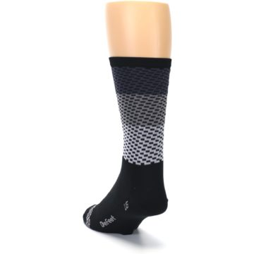 Image of Black Gray Dashes Men's Crew Athletic Socks (side-2-back-16)