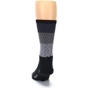 Image of Black Gray Dashes Men's Crew Athletic Socks (back-17)