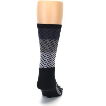Image of Black Gray Dashes Men's Crew Athletic Socks (back-19)
