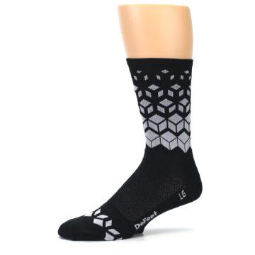 Image of Black White Cubes Men's Crew Athletic Socks (side-2-10)
