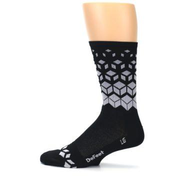 Image of Black White Cubes Men's Crew Athletic Socks (side-2-12)