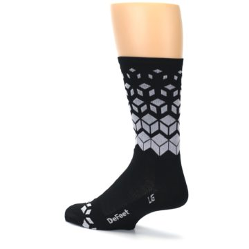 Image of Black White Cubes Men's Crew Athletic Socks (side-2-back-14)