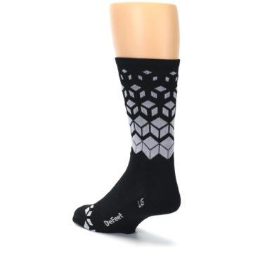 Image of Black White Cubes Men's Crew Athletic Socks (side-2-back-15)