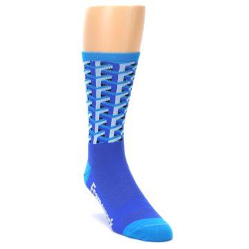 Image of Blue Framework Optical Men's Crew Athletic Socks (side-1-front-02)