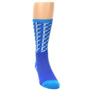 Image of Blue Framework Optical Men's Crew Athletic Socks (side-1-front-03)