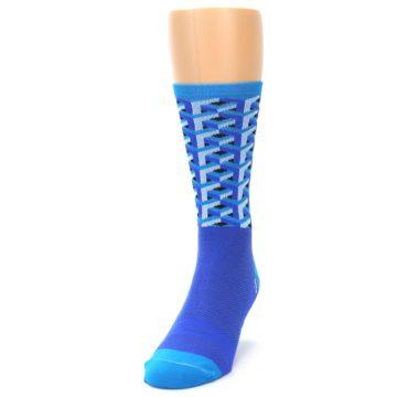 Image of Blue Framework Optical Men's Crew Athletic Socks (side-2-front-06)