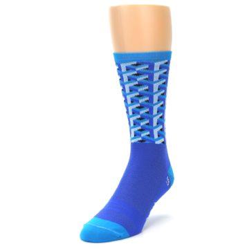Image of Blue Framework Optical Men's Crew Athletic Socks (side-2-front-07)