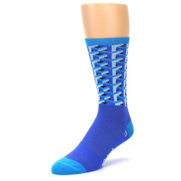 Image of Blue Framework Optical Men's Crew Athletic Socks (side-2-front-08)