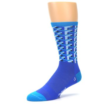 Image of Blue Framework Optical Men's Crew Athletic Socks (side-2-09)