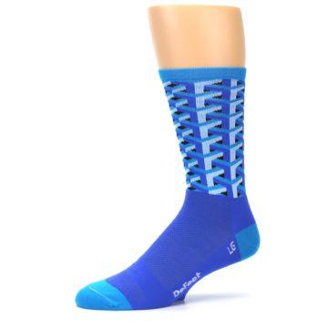 Image of Blue Framework Optical Men's Crew Athletic Socks (side-2-10)