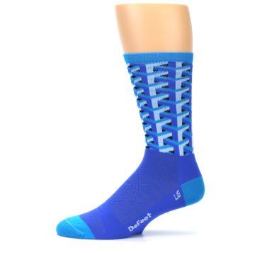 Image of Blue Framework Optical Men's Crew Athletic Socks (side-2-11)