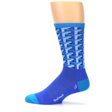 Image of Blue Framework Optical Men's Crew Athletic Socks (side-2-12)