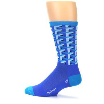 Image of Blue Framework Optical Men's Crew Athletic Socks (side-2-13)