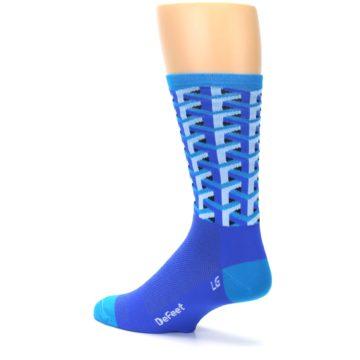 Image of Blue Framework Optical Men's Crew Athletic Socks (side-2-back-14)
