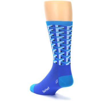 Image of Blue Framework Optical Men's Crew Athletic Socks (side-2-back-15)