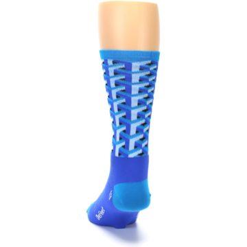 Image of Blue Framework Optical Men's Crew Athletic Socks (back-17)