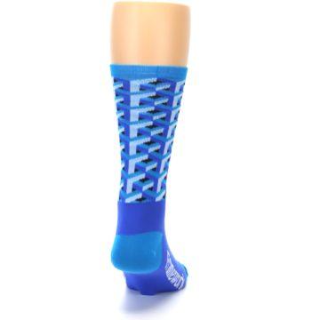 Image of Blue Framework Optical Men's Crew Athletic Socks (back-19)