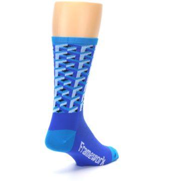 Image of Blue Framework Optical Men's Crew Athletic Socks (side-1-back-21)