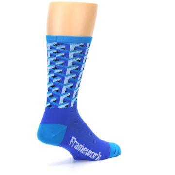 Image of Blue Framework Optical Men's Crew Athletic Socks (side-1-back-22)