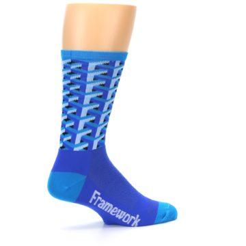 Image of Blue Framework Optical Men's Crew Athletic Socks (side-1-23)