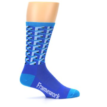 Image of Blue Framework Optical Men's Crew Athletic Socks (side-1-24)