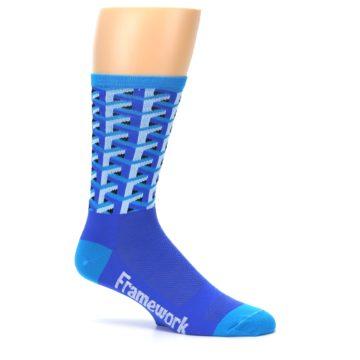 Image of Blue Framework Optical Men's Crew Athletic Socks (side-1-25)
